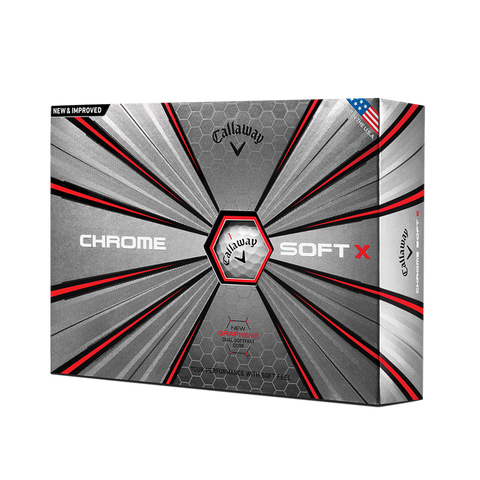 Callaway Chrome Soft X Logo Golf Balls