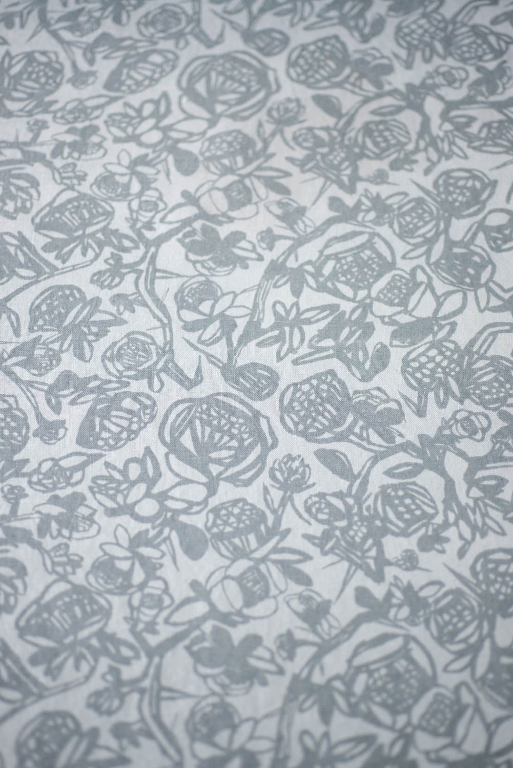 Angry Flowers Print Fabric