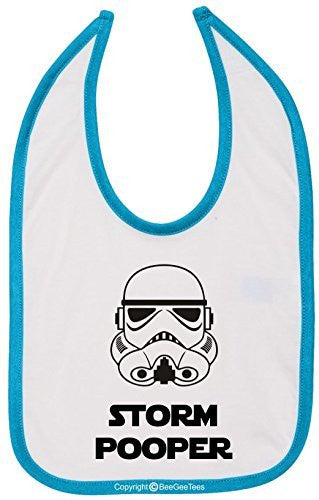 Storm Pooper Star Wars Funny Bib Multi-Color Trim by BeeGeeTees®