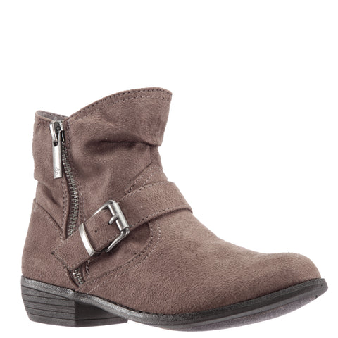 Burnished Buckle Boot - Taupe