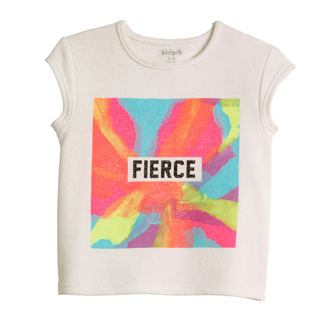 Fierce French Terry Top - White