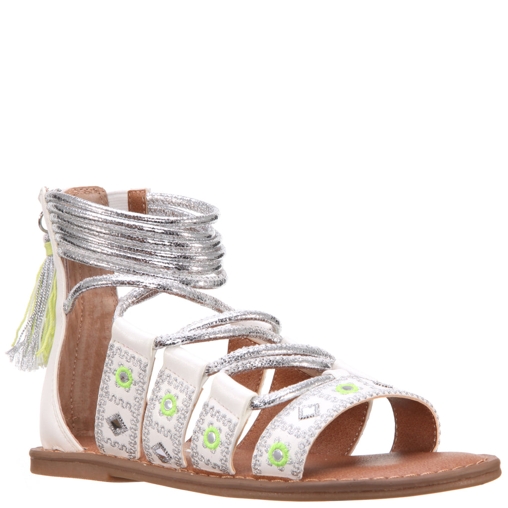 Geo Mirrored Braided Sandal