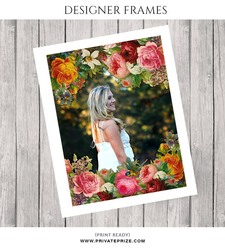 Floral Frame - Embellish Overlay - Photography Photoshop Templates