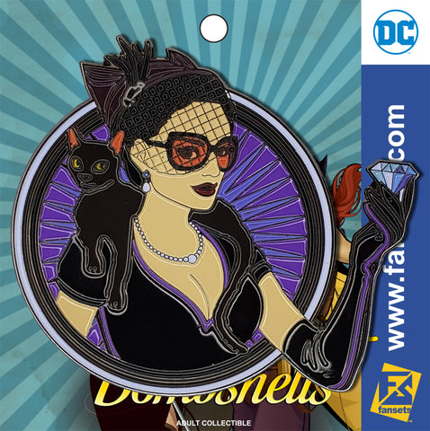 DC Comics DC Bombshells Badge CATWOMAN Licensed FanSets Pin