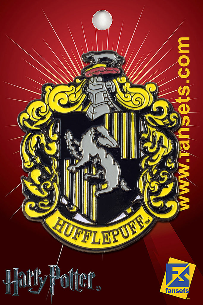 Harry Potter House Crest HUFFLEPUFF Licensed FanSets Pin MicroMagic