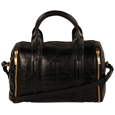 Elle Genuine Leather Women Black HandBag