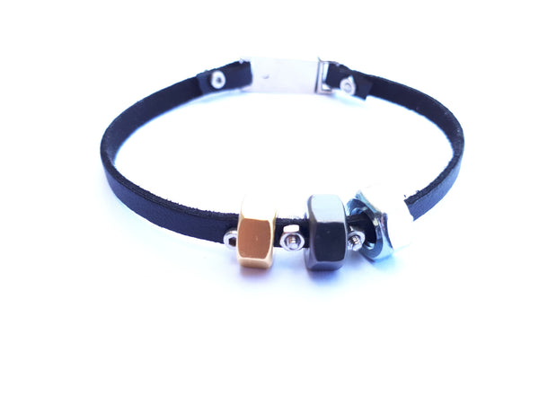 Trio leather bracelet