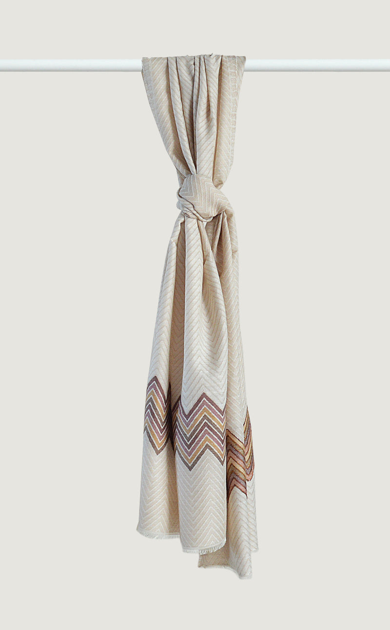 Winter White Chevron