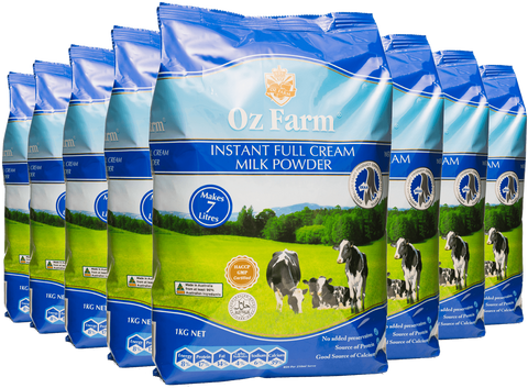 Oz Farm Instant Full Cream Milk Powder (8 * 1KG)