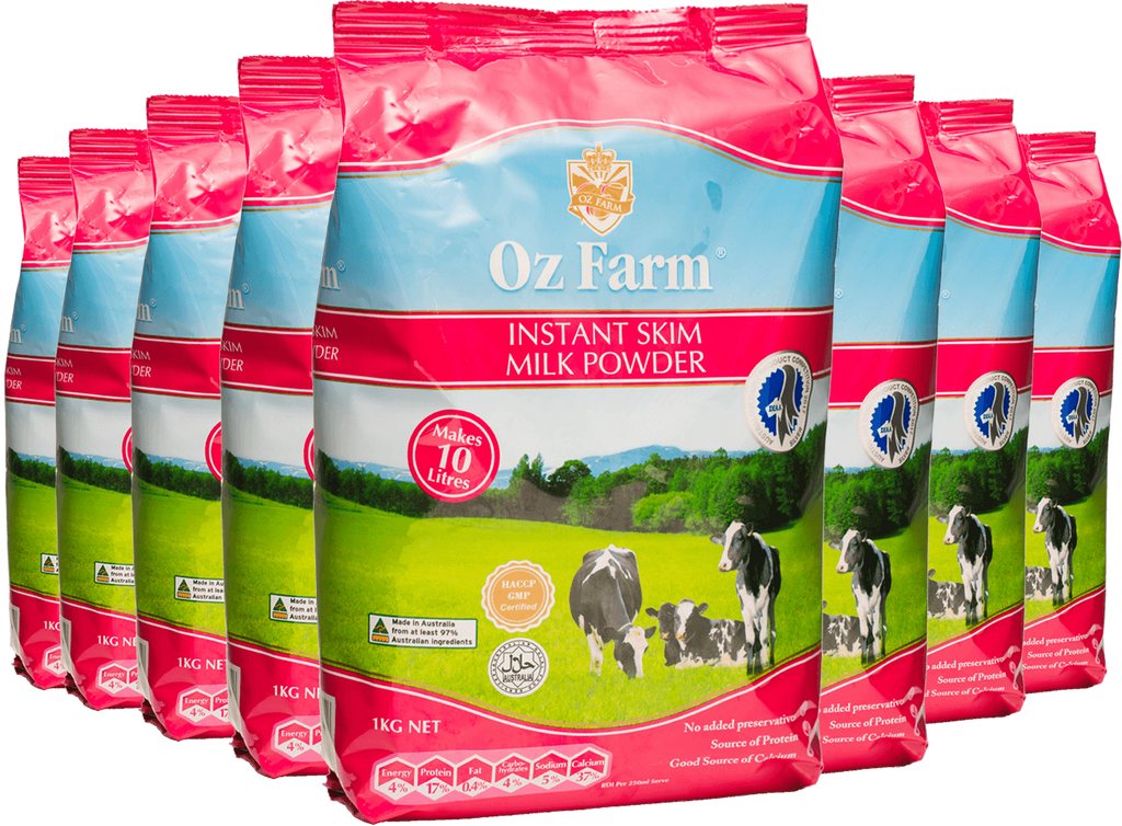 Oz Farm Instant Skim Cream Milk Powder (8 * 1KG)