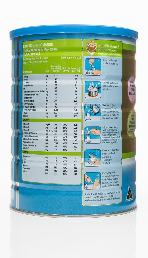 OZ Farm Gold Toddler Formula 900g (Boxed, 6 Cans, 900g Each) back