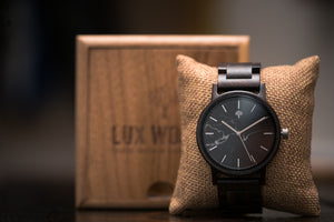 The Gaston Wood Watch- Black Marble 44mm