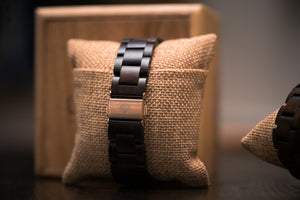 The Gaston Wood Watch- Womens Black Marble 36mm