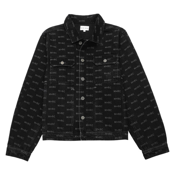 M+RC NOIR HATE BLACK DENIM JACKET