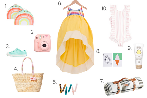 A blog collage of the daisy windsong and summer essentials