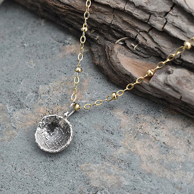 Textured Dome Necklace