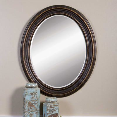 Oval Rubbed Mirror