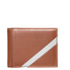 Bill Fold Leather and Stainless Steel Wallet