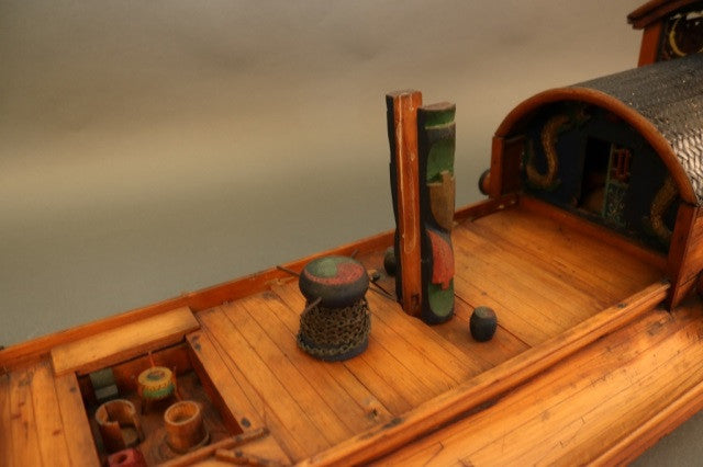 Chinese Sampan Model | Antique Chinese Junk