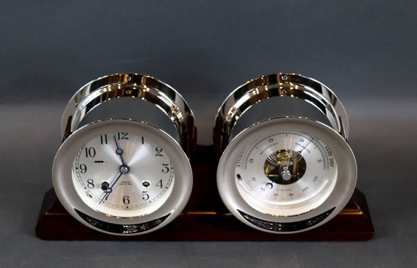 Ship's Bell Clock and Barometer by Chelsea Clock Co.