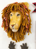 lion nursery decor, lion king nursery, lion themed nursery, safari nursery decor, faux taxidermy lion, lion head wall mount, lion gift, lion party, kids faux taxidermy, fauxidermy,