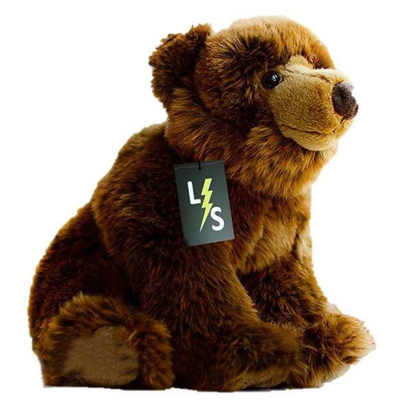 LightningStore Adorable Cute Sitting Brown Bear Doll Realistic Looking Stuffed Animal Plush Toys Plushie Children's Gifts Animals