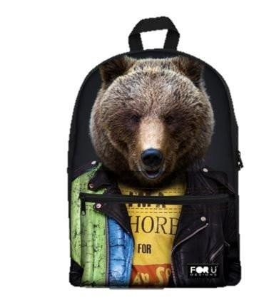 PC Accessory - LightningStore Cute Children Hipster Bear Wearing Clothes School Bags Kindergarten Girls Boys Kid Backpack Cartoon Toys Fashion 3D Animal Schoolbag Casual Kids Shoulder Book Bag Mochila Escolar