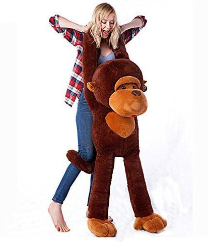 Toy - LightningStore 130CM Giant Huge Large Big Stuffed Soft Plush Brown Monkey Bear Doll Plush Toy