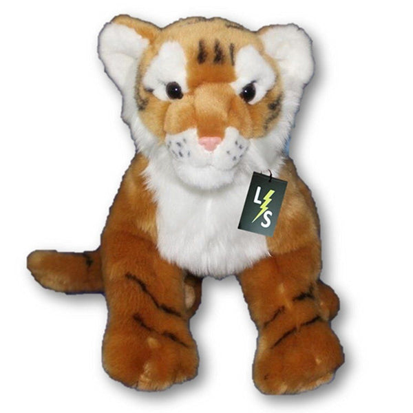 Toy - LightningStore Adorable Cute Sitting Orange Tiger Stuffed Animal Doll Realistic Looking Plush Toys Plushie Children's Gifts Animals