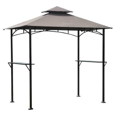 8-Ft x 5-Ft Steel Frame Outdoor Grilling Gazebo with Vent Top Canopy