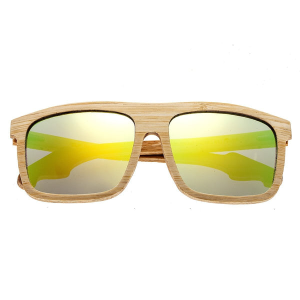 Earth Wood Aroa Sunglasses w/Polarized Lenses - Bamboo/Yellow