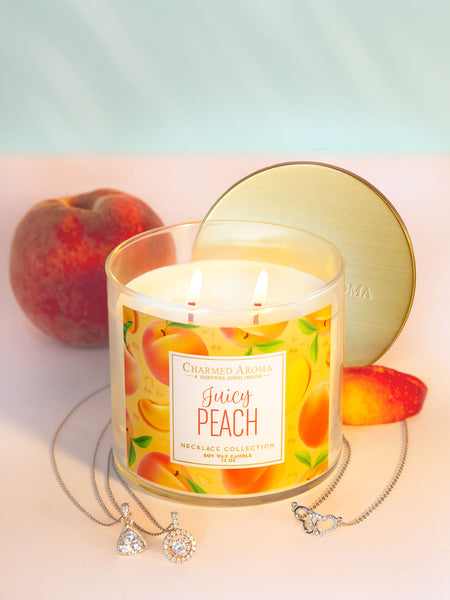 Juicy Peach Candle - Classic Necklace Collection