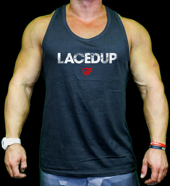 Lacedup Tanks  - Black, Tri Grey