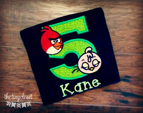 Personalized Angry Bird Birthday Design - Red & Pink Birds