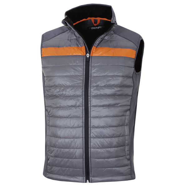 Benross Mens Golf Pro Shell Waterproof Stretch Gilet Grey