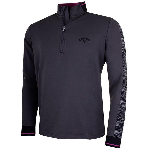 Callaway Golf Mens Long Sleeve Textured Print Thermal Pullover CGKF7045