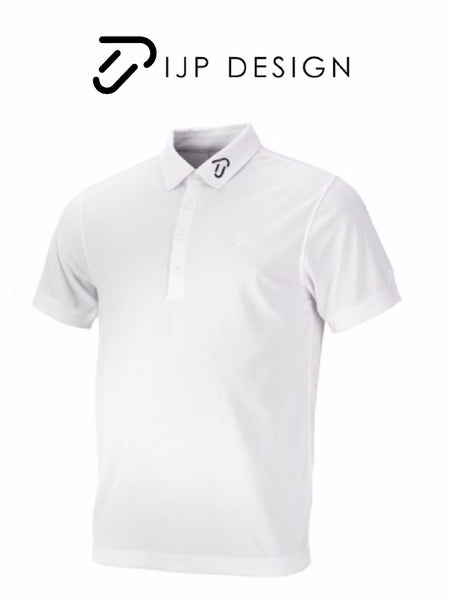 Junior IJP Ian Poulter Tour Style Golf Polo Shirt White Lightweight