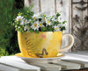 Image of Garden Butterfly Teacup Planter (L)