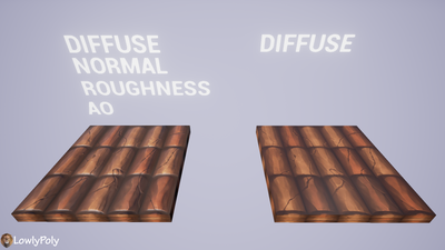 Roof Tile Vol.05 - Hand Painted Texture Pack