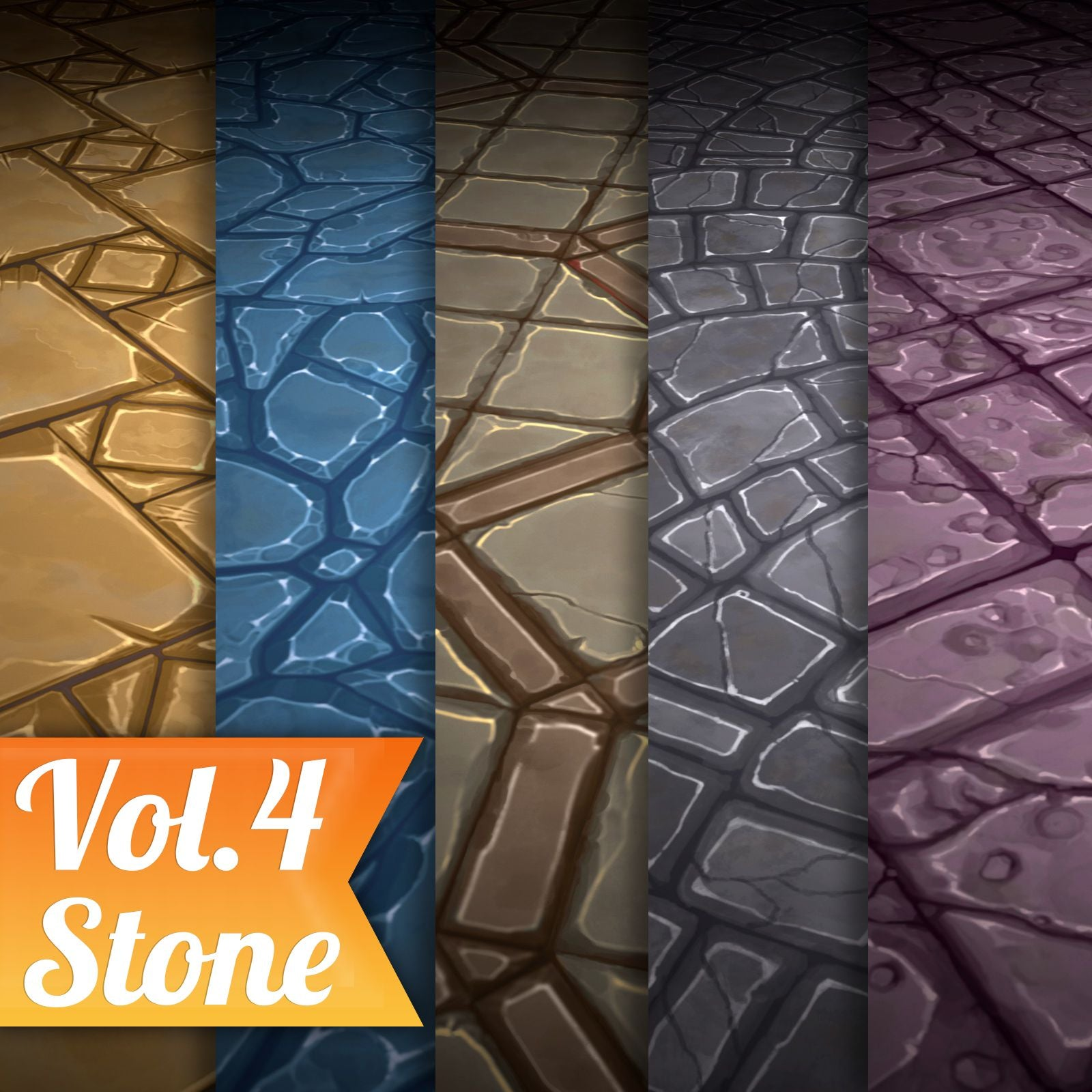 Stone Tile Vol.04 - Hand Painted Texture Pack