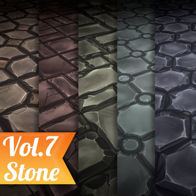 Stone Tile Vol.07 - Hand Painted Texture Pack