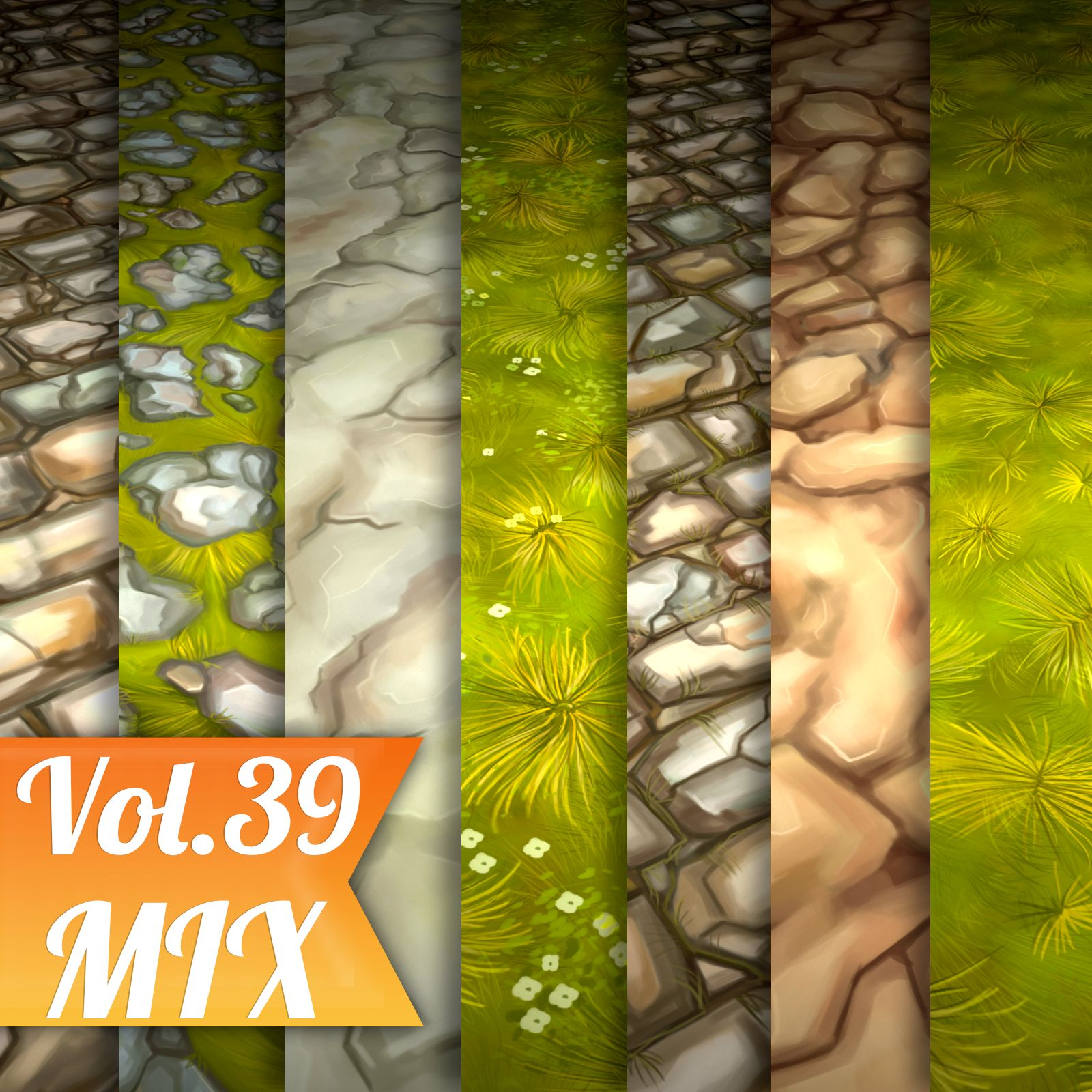 Ground Mix Vol.39 - Hand Painted Texture Pack