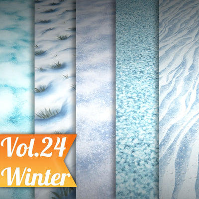 Snow Vol.24 - Hand Painted Texture Pack