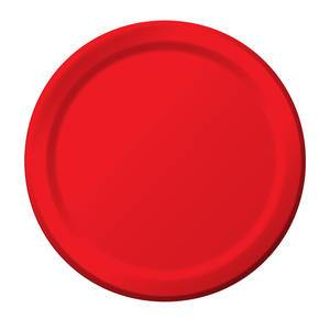 "Paper Plate Red 10"" - Home Of Coffee"