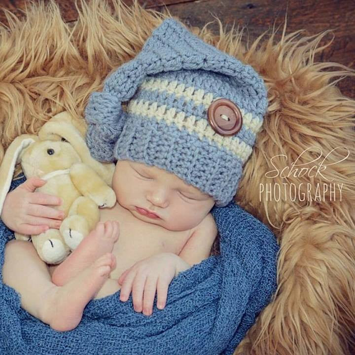 Crochet Top Knot Hat Beanie Infant Newborn Baby Toddler Handmade Photography Photo Prop Baby Shower Gift Present
