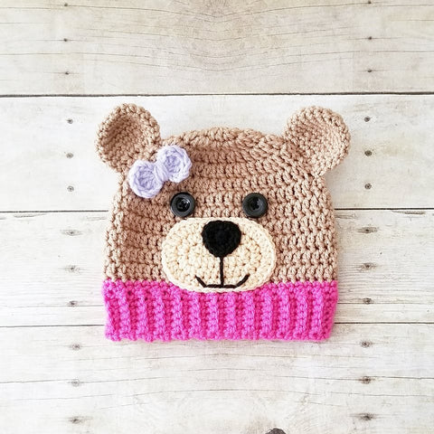 Crochet Teddy Bear Beanie Hat Infant Newborn Baby Toddler Child Adult Handmade Photography Photo Prop Baby Shower Gift Present