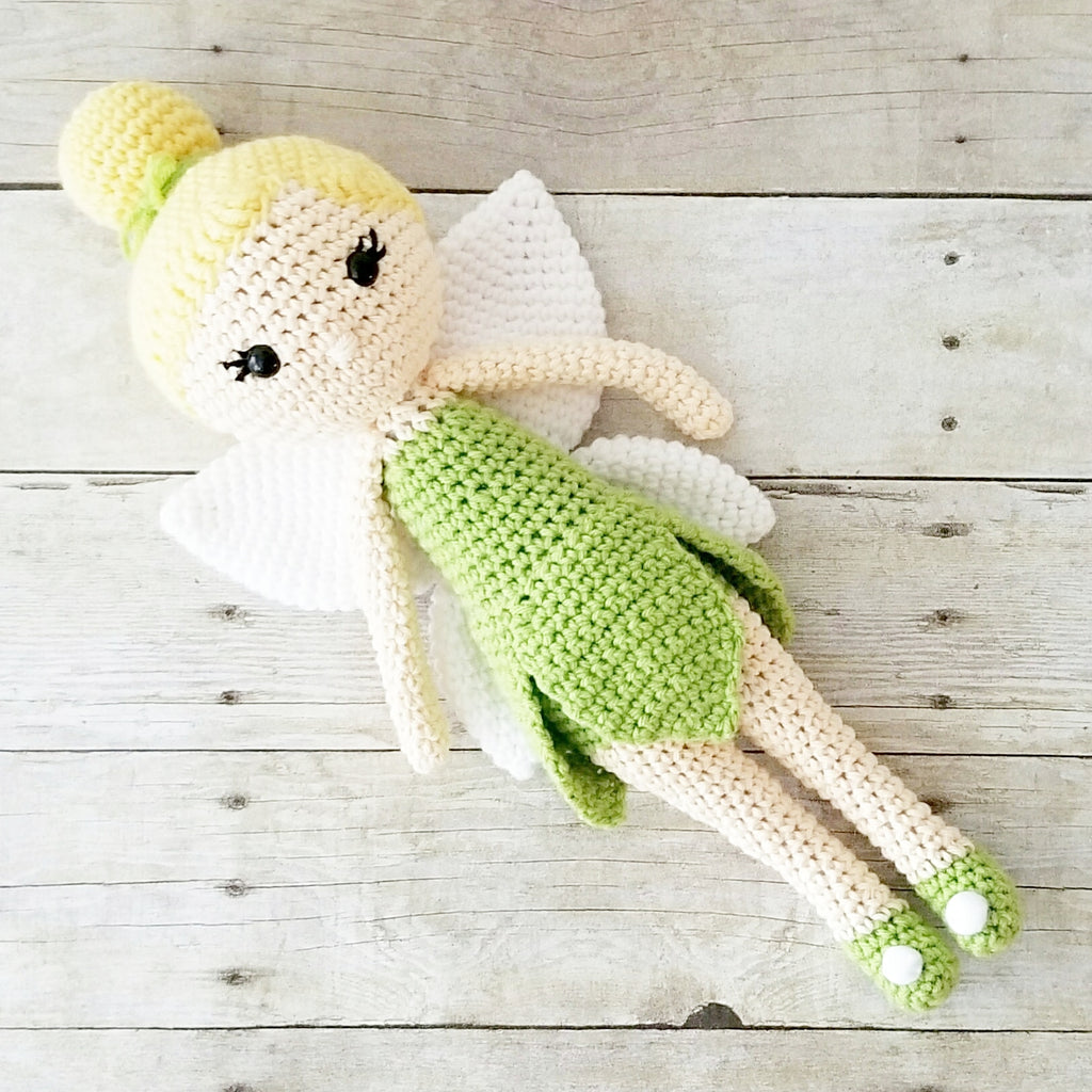 Crochet Tinkerbell Doll Toy Baby Infant Toddler Girl Nursery Bedroom Decor Decoration Theme Photography Photo Prop