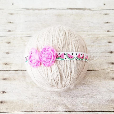 Baby Watermelon Bow Headband Summer Time Newborn Baby Infant Toddler Child Photography Photo Prop - Red Lollipop Boutique