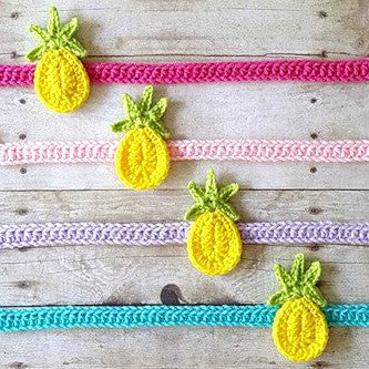 Crochet Pineapple Headband Hair Accessory Newborn Baby Infant Toddler Adult Handmade Hawaii Tropical Photography Photo Prop Handmade Baby Shower Gift Present - Red Lollipop Boutique