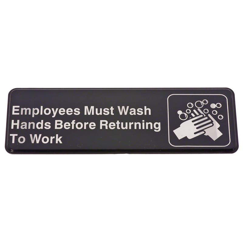 Sign-Employees Must Wash Hands Before Returning to Work